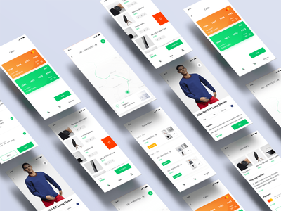 Sell it - Ecommerce mobile app shopping ui design - App design ecommerce ecommerce design ecommerce shop ecommerce app mobile ui mobile app design shopping app interface typography simple adobe xd app clean uiux design ui ux