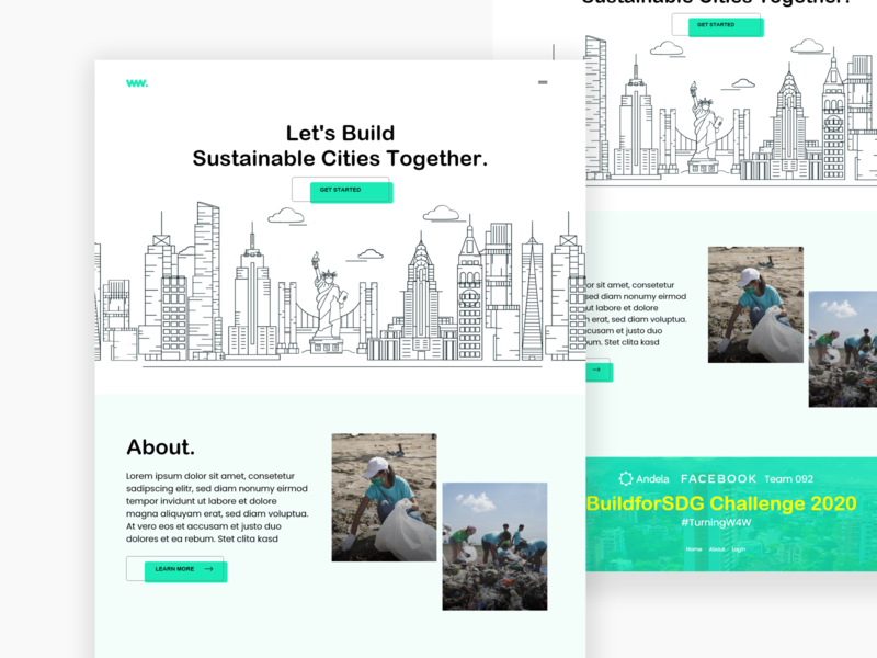 BuildSDG - Facebook Andela #BuildSDG challenge buildsdg facebook cities illustration art line art flat illustration minimal interface web simple website adobe xd clean uiux design ux ui
