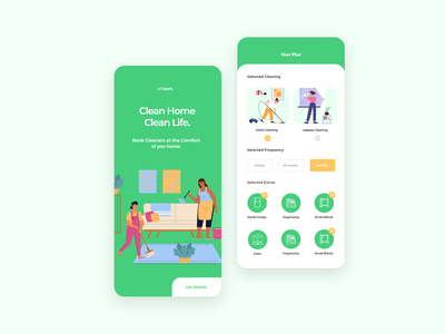 Spark - Laundry and dry cleaning service ordering app ui8 team tubik ramotion orizon hiwow cuberto balkan brothers user experience design user interface design laundry app illustration interface app design clean ux uiux ui