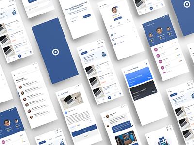 spottr ecommerce app ramotion orizon ui8net hiwow blue and white ecommerce app ecommerce design simple illustration interface app adobe xd design clean ux uiux ui