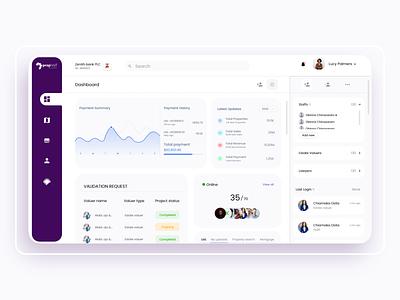 SaaS Analytics page for PropVat white blue purple web interface app website adobe xd ui design clean ux uiux analytics analytics chart analytics dashboard