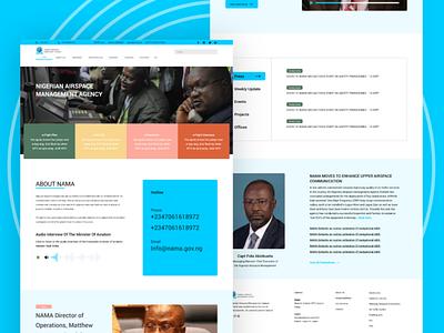 NAMA - Nigerian Airspace Management Agency Website clean  creative blue airspace agency nama clean design clean ui web app interface website adobe xd ui design clean ux uiux