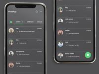 Neomorphic Soft ui Whatsapp redesign