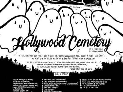Hollywood Cemetery Zine Map