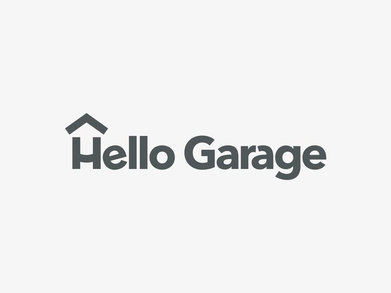 Hello Garage Logotype logo logotype