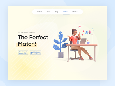 Perfect Match icon ui  ux vector ux ui clean graphic design art website illustrator flat typography minimal app web logo illustration design