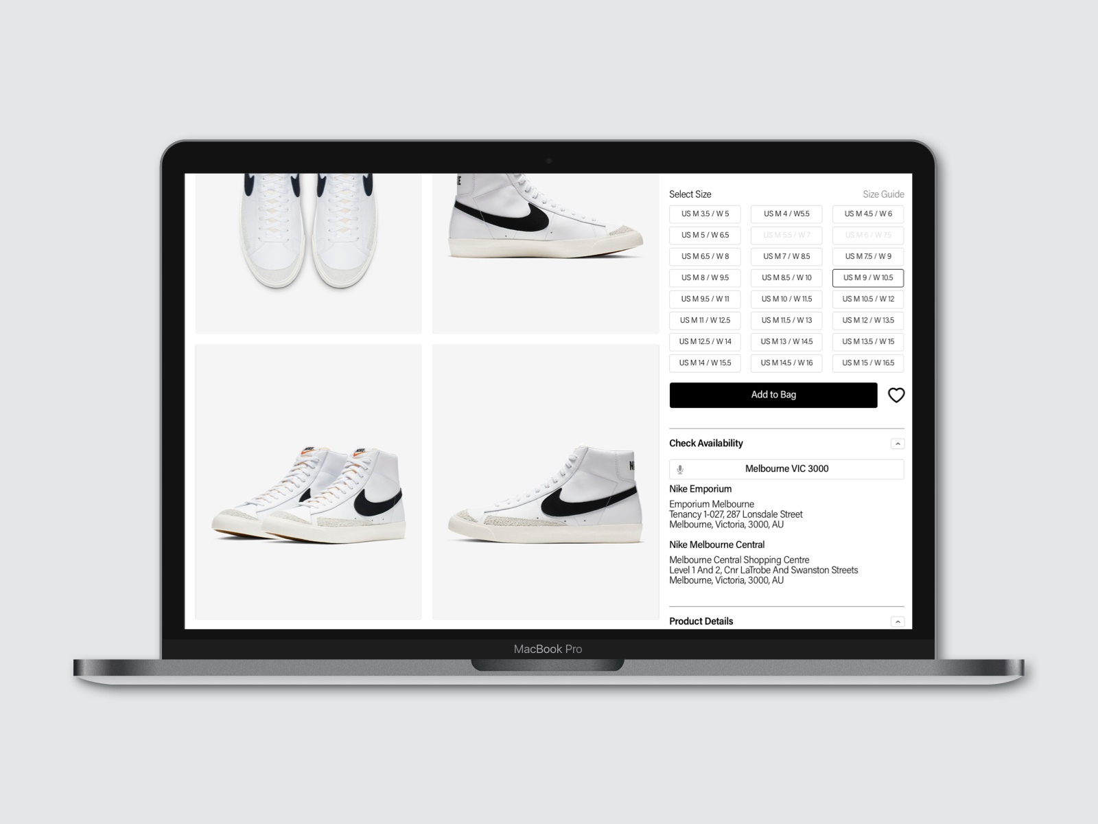 nike store check availability