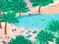 South Shore Beach Illustration