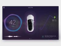 Concept car dashboard
