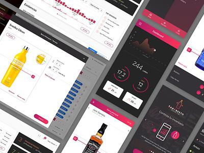 Bar Admin Tool - Web and Mobile diseño web monterrey minimalist dashboard monterrey mobile design web design admin ui ux