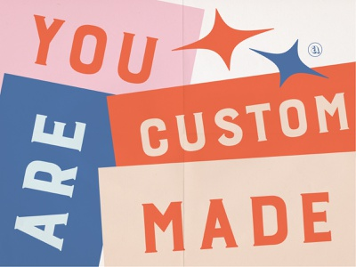 You are Custom Made Social Graphic self love empower instagram graphic social graphic you are custom made women empowerment bold graphic tape graphic custom made custom type indiana typography indianapolis indy