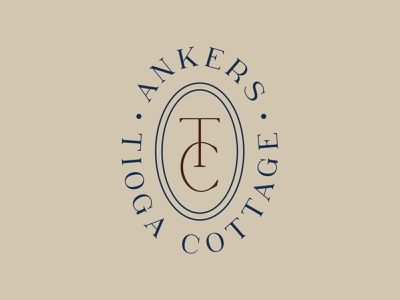 Ankers Tioga Cottage Branding oval badge logo oar cottage type flag design boat flag boat sign boat brand lake brand lake life lake cottage branding cottage logo cottage logo branding indiana typography indianapolis indy
