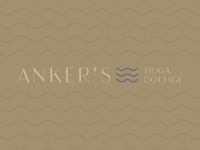 Anker's Tioga Cottage Rejected Concept house boat water ocean lake house brand lake house cottage home cottage brand indiana designer logo branding indianapolis indy