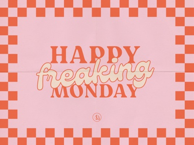 Social Graphic for Instagram monday blues freaking monday monday design monday graphic happy monday checkered design indydesigner indiana typography indianapolis indy