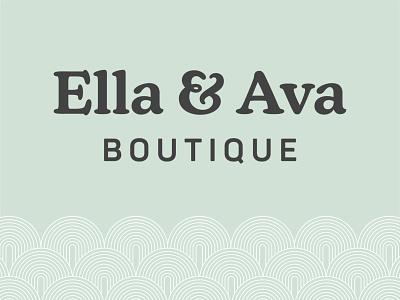 Ella & Ava Boutique Logo boho boutique boho logo letter logo initial logo ava ella boutique brand boutique logo branding suite logo suite clothing logo clothing brand logo branding indy indiana typography indianapolis