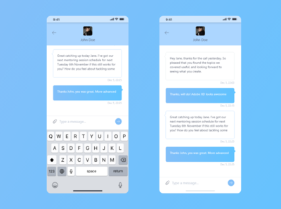 Direct Messaging layout