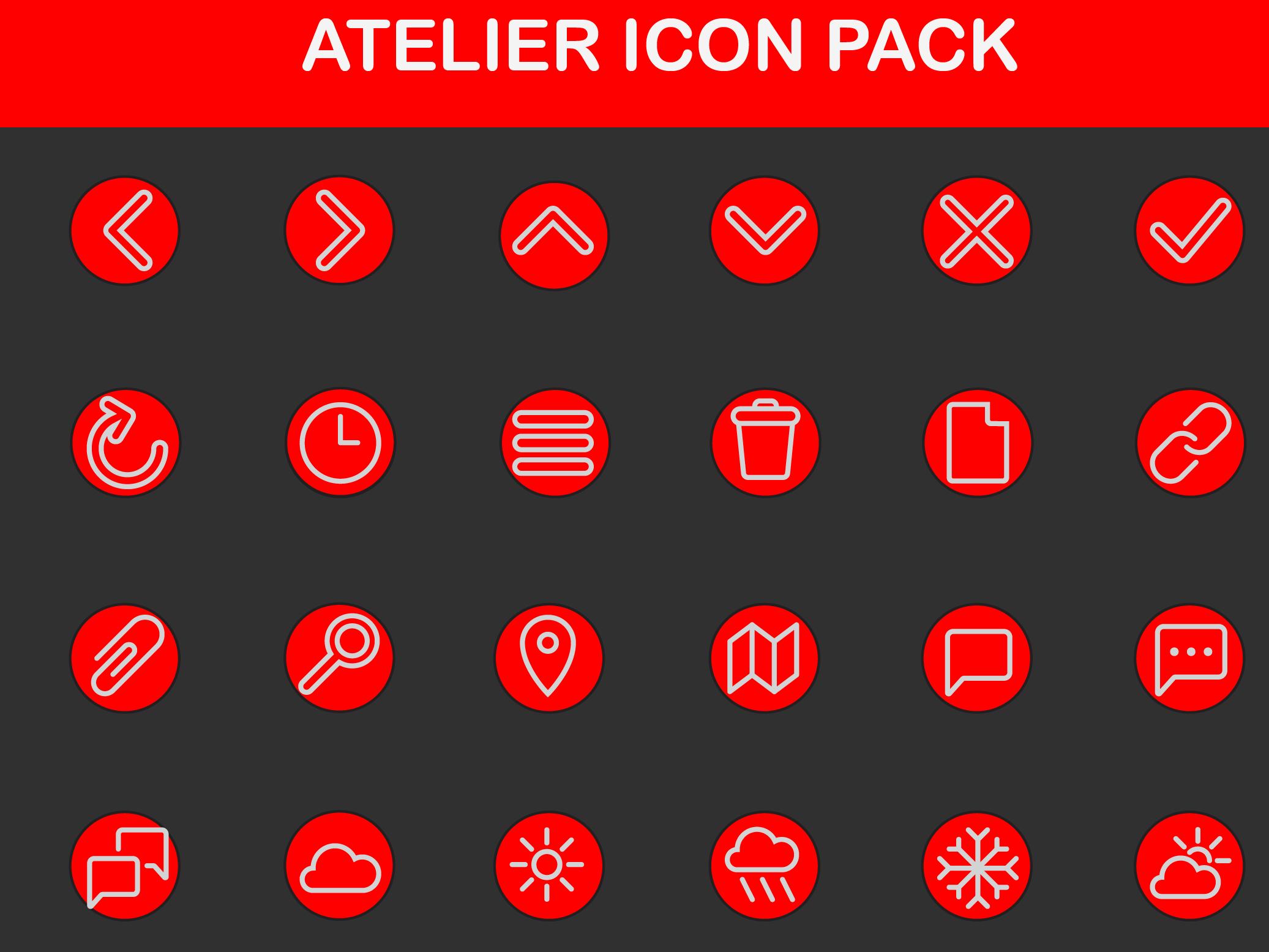 Atelier icon set