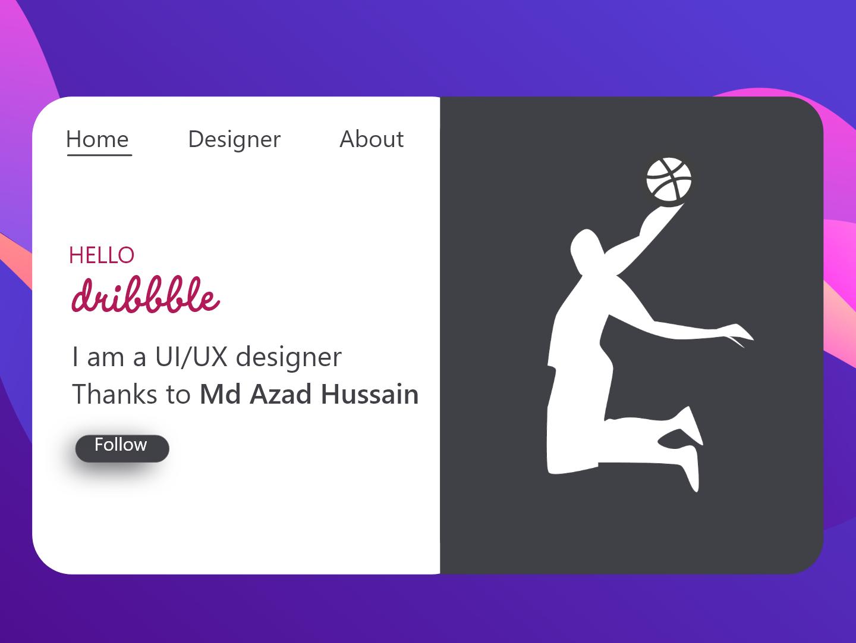 Hello dribbble ux ui hello dribble first shot debutshot app