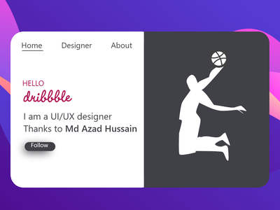 Hello dribbble ux ui hello dribble first shot debutshot app