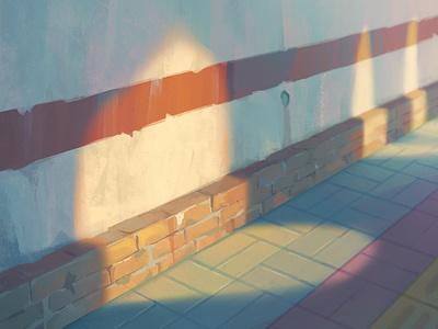 Light&Shadow life shadow light wall road illustration