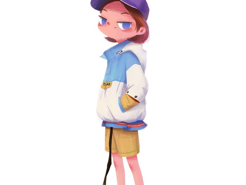 character design-01 girl character illustration