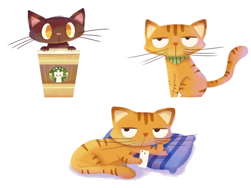 cats cat animal character illustration