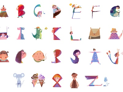 Doodles For Alphabet alphabet character illustration