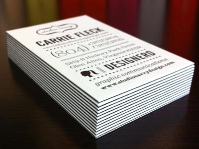 studioSavvy Business Cards letterpress typography paper print