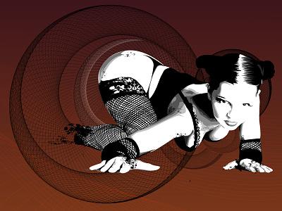 Eve Of Destruction  bnw pinup illustration