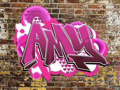 Newborn Amy  amy graffiti babycard illustration