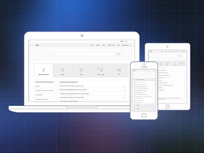 Selfcare Environment  ui ux tablet desktop mobile selfcare wireframes rwd