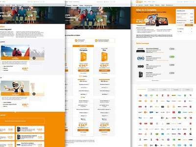 Ziggo.nl data driven user interface responsive rwd ux ui website