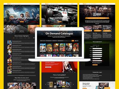 ontdek.ziggo.nl data driven user interface entertainment ziggo responsive rwd ux ui website