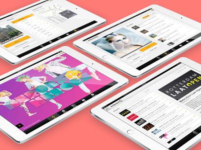 De Bijenkorf App stores fashion creative loyalty shop retail tablet design visual ui ux native