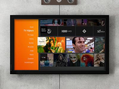 IP-TV on demand ten foot interface big screen svod ux ui ip-tv
