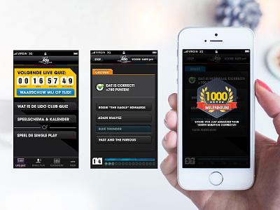 Lido Club Quiz  live quiz casino badges leaderboard mcq gaming ux ui