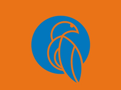 Bluebird - Abstract orange