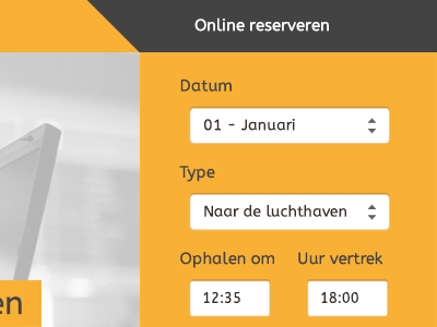 Online Reservation reservate taxi airport yellow orange hours form online reservation