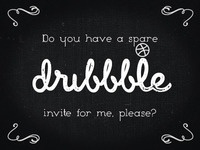 My dribbble invite request