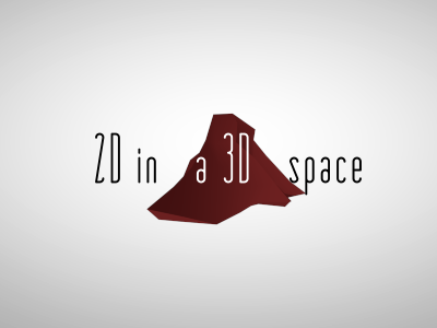2D in a 3D space free freelance fun project 2d 3d cinema 4d having fun