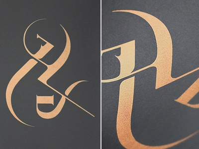 and/persand ampersand and lettering typography type poster screenprint print bodoni metallic copper