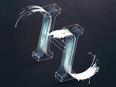 'H' dropcap type typography lettering drop dropcap