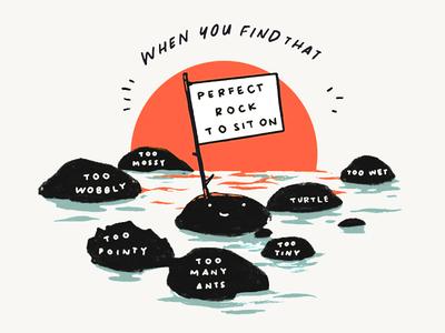 REI sticker design rocks sun nature handdrawn drawing illustration design sticker