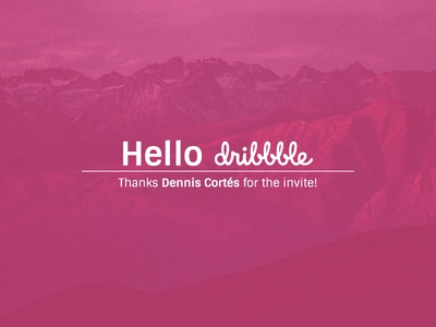 Hello Dribbble new years developer front-end developer debut dribbble debut