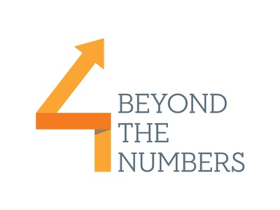 Beyond The Numbers logo typesetting arrows