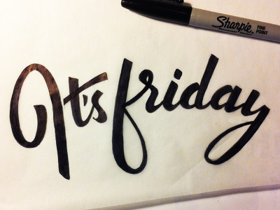It's Friday friday lettering type typography hand lettering practice