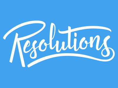 Resolutions type lettering hand lettering vector swash brush script