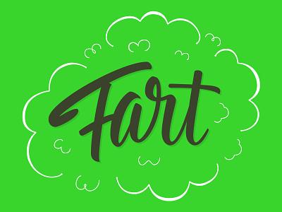 Fart fart vector lettering type hand lettering brush script