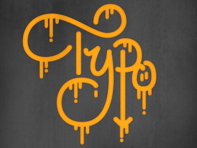 Drippy Typo tagging vector lettering type typography notavandal