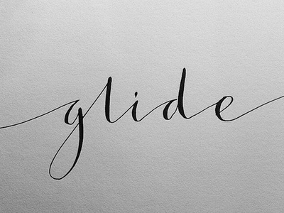 Glide Calligraphy calligraphy pointed pen type lettering letters